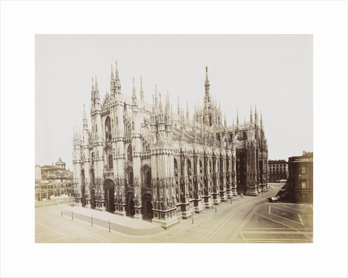 Exterior of the Cathedral of Milan, side and front, Italy by Anonymous