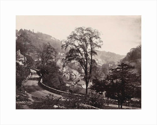 Panoramic view of houses and a road on a ridge in Matlock UK by Anonymous