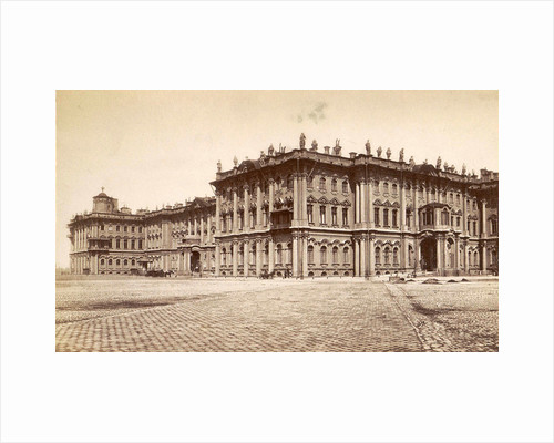 Southeastern facade of the Winter Palace in St. Petersburg square in front Russia by Anonymous