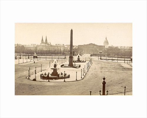 Place de la Concorde in Paris, France, in the middle an Egyptian obelisk and fountains by Anonymous