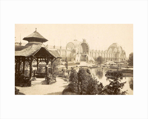 Part of the exhibition grounds at the Paris, France World Exhibition in 1889 by Anonymous