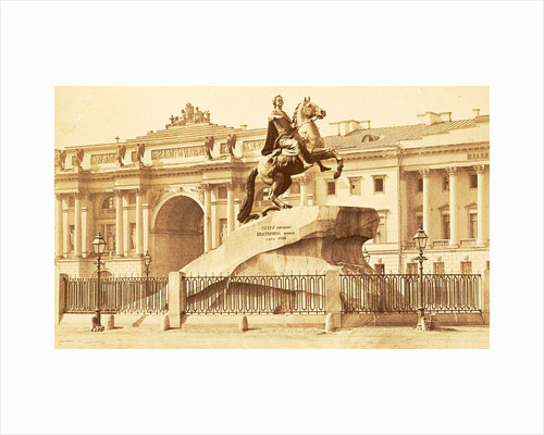 Equestrian statue of Peter the Great in St. Petersburg Russia by Anonymous