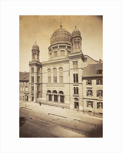 facade and dome of the New Synagogue in Berlin, Germany by Anonymous