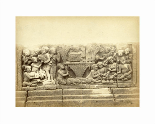 relief on the terrace of the Shiva temple of Prambanan, Indonesia by Kassian Céphas