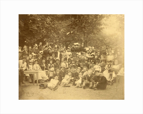 Group portrait of young people in a forest during a group outing by Anonymous