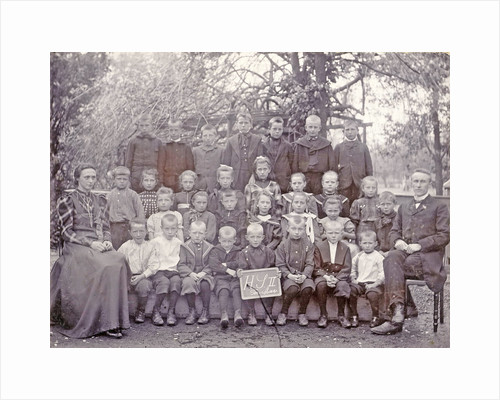 Group Portrait, class photos, class of H S II in Ter Aar by Bernard de Jong