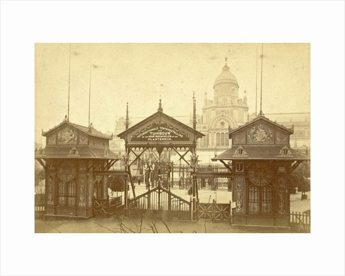Palace of Industry shortly after its completion in Amsterdam by workshop of Anonymous
