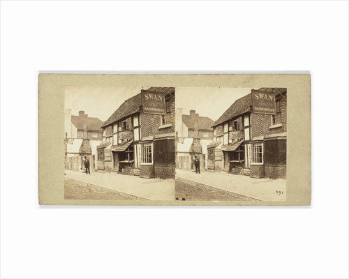 View the pub 'Swan and Maidenhead' England by William Morris Grundy