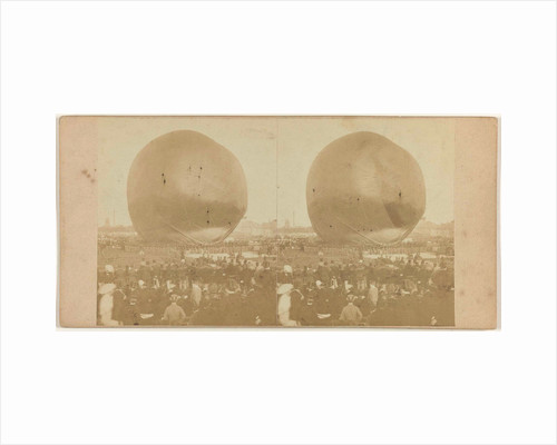 Nadars balloon terrain Palace of Industry in Amsterdam by Jan D. Brouwer