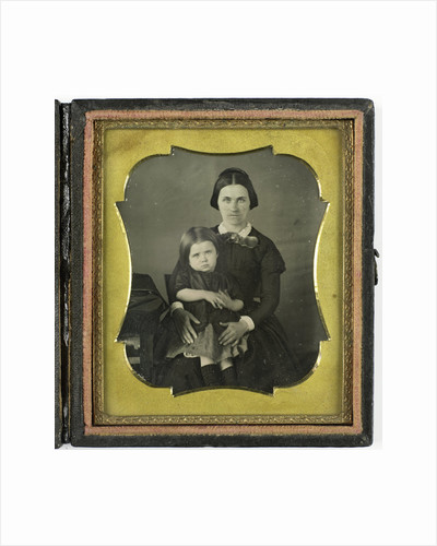 portrait of a mother and daughter by Anonymous