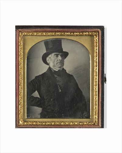 Portrait of a man with top hat by Anonymous