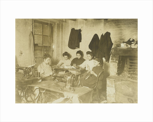 Five young seamstresses in a studio by Lewis Wickes Hine