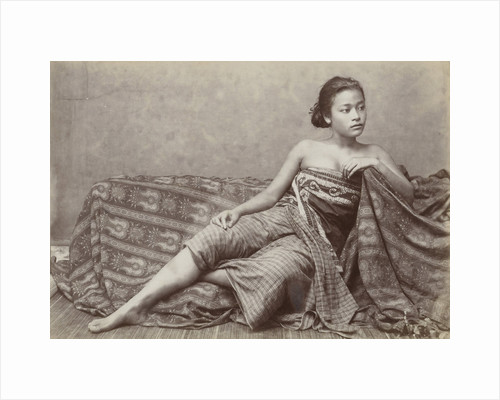 Portrait of a Javanese woman in traditional clothing by Anonymous