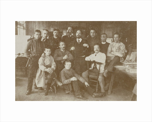 Group portrait employees lithographic printing by Anonymous