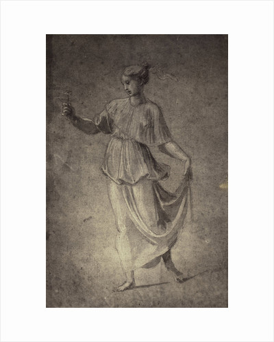 Drawing Raphael from Windsor Castle, standing woman with flowers by Charles Thurston Thompson