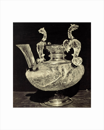 crystal decanter engraved with animal handles, from the Louvre by Charles Thurston Thompson