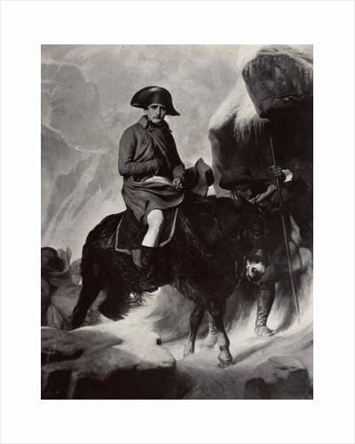 Le General Bonaparte franchisers sant les Alpes by Paul Delaroche