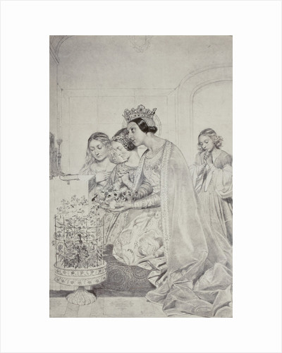 Sainte Amelie, reine de Hongrie by Paul Delaroche