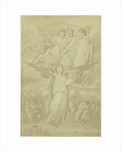 illustration Horace, gods and muses in the clouds by Anonymous