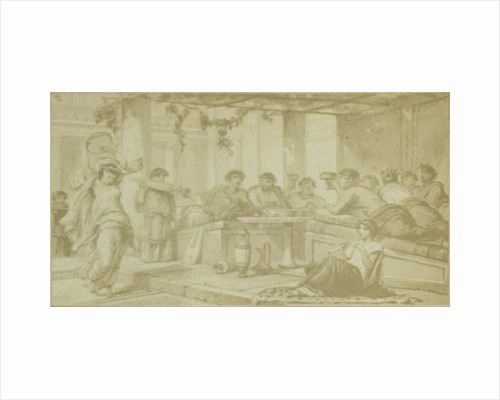 Quinti Horatii Flacci Carminum, gods banquet with music by Anonymous