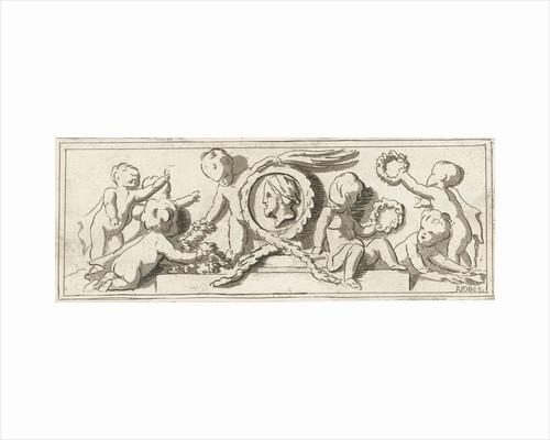 Frieze with putti, Anthonie van den Bos by Jacob de Wit