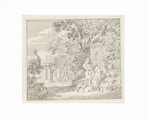 Couple at a classical monument and a gate by Henry Hoogers