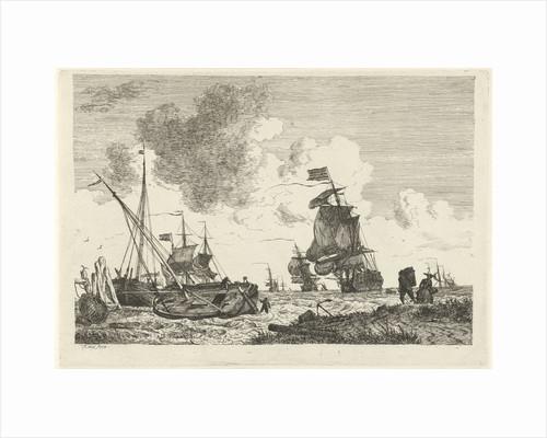 Seascape in strong winds by Hendrik Kobell