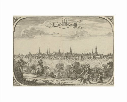 View of the city of Hamburg, Germany by Adriaen Oudendijck