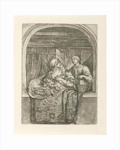 Woman breastfeeding her child by Pieter Peutemans