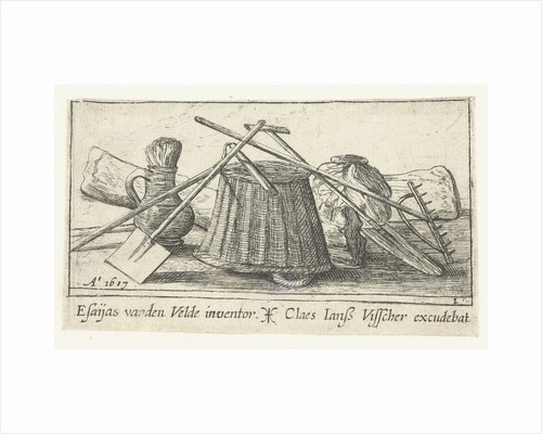 Engraving with tools for working the land by Claes Jansz. Visscher II