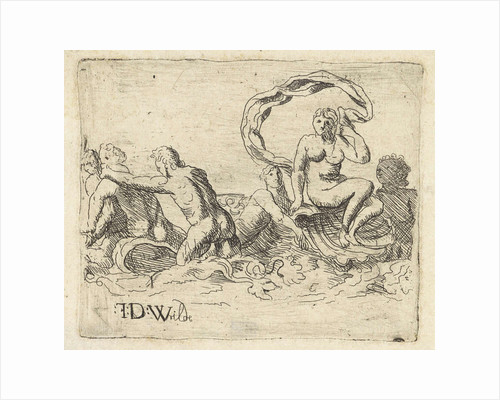 sea gods and nymphs in the surf, Franz de Wilde by Franz de Wilde