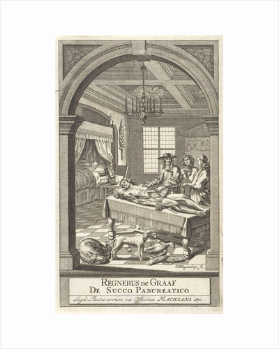 Reinier de Graaf during an anatomy lesson by officina Hackiana