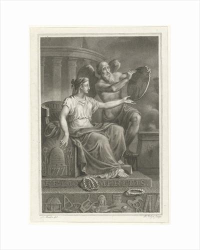 Symbolic representation at the 50th anniversary of Felix Meritis, 1827 by Philip Velijn