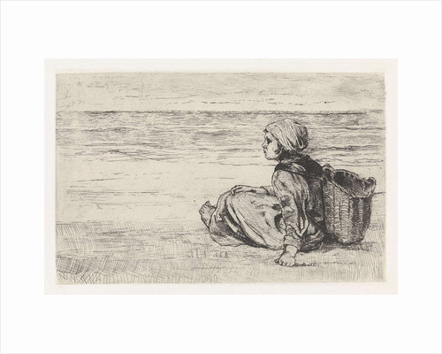 Girl at the seaside by Jozef Israëls