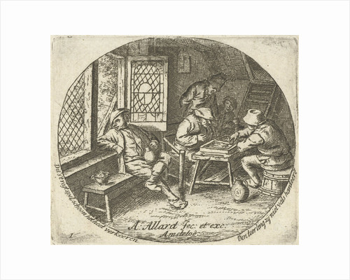Peasant Interior with backgammon players by Abraham Allard