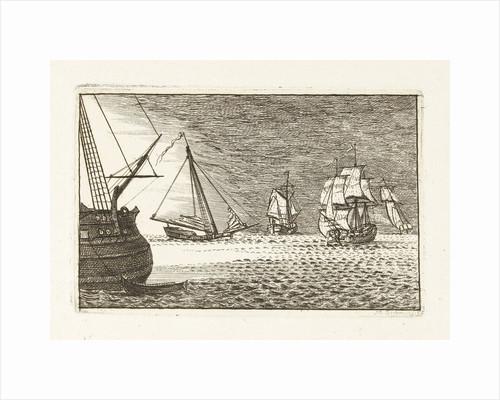 Seascape with threemaster by Mathäus Berkman