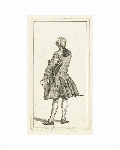 Standing man with tail wig by Jan de Beijer