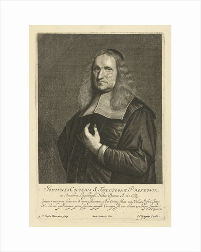 Portrait of theology professor Johannes Cocceius by Johannes Tangena