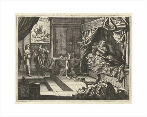 Jacob complains to Laban that he gave him Leah instead of Rachel as his wife by Daniël van den Bremden