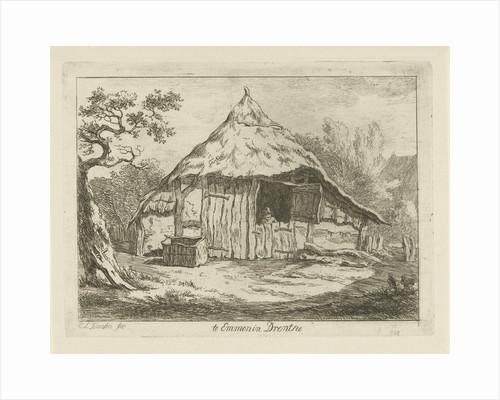 Barn with open upper door by Carel Lodewijk Hansen