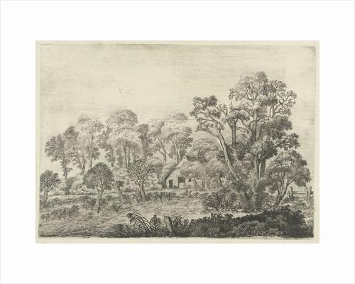 Landscape with farm at a pond by Jan van Brosterhuyzen