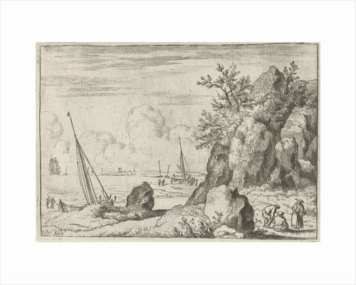 Seascape with sailing ships by Allaert van Everdingen