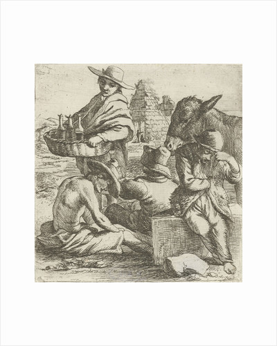 Gin seller and the three beggars by Jan van Ossenbeeck