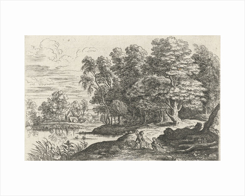 Landscape with two shepherd boys by Lucas van Uden