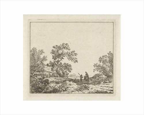 Landscape with footmen and woman on horseback by Hermanus Fock