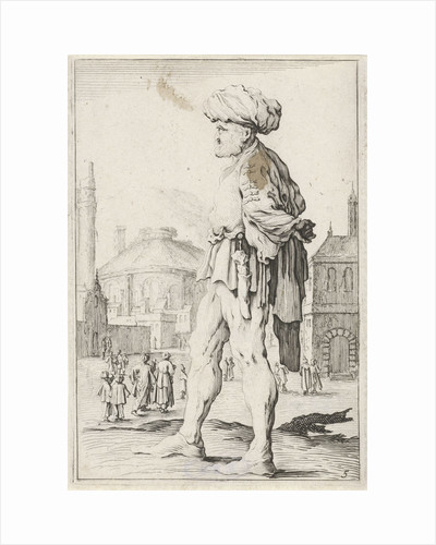 Man with turban in profile by Clement de Jonghe