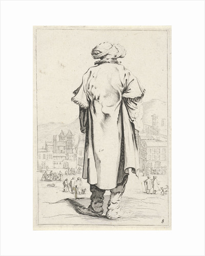 Man with turban seen from behind by Clement de Jonghe