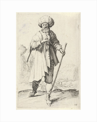 Man with walking stick by Clement de Jonghe