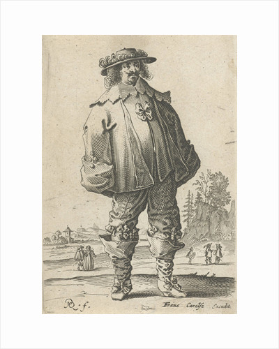 Man in fashionable clothing by Frans Carelse
