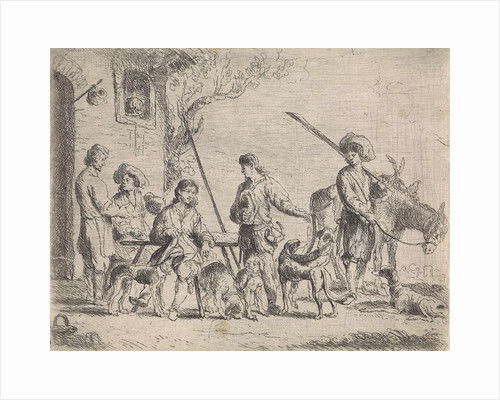 Hunters for an inn by Cornelis de Wael